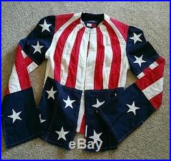 Tommy Hilfiger USA American Flag Stars & Stripes Bell Sleeve Shirt 4th of July
