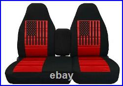 Truck Seat Covers Fits ford f150 1997 to 2003 40/60 highback Split USA Flag
