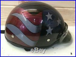 U. S. A. American FLAG AGV HARLEY DAVIDSON Half Helmet DJ HD Size M