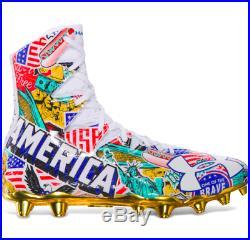 UA Football Cleats Highlight MC LE USA Tom Brady Under Armour American Flag