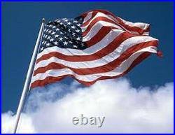 US FLAG Nylon I American flags FLAGSOURCE MADE IN USA 2'x3' 30'x60