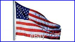 US USA American Flag Aluminum Flagpole Pole Commercial Home 20 ft 3x5 Large Kit