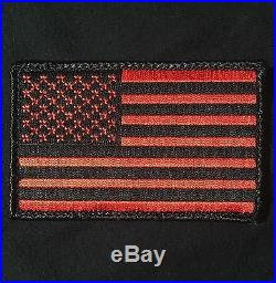 USA American Flag Army Morale Military Covert Black Ops Red Velcro Brand Patch