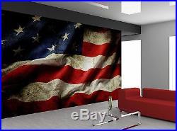 USA American Flag Old Rustic Wall Mural Photo Wallpaper GIANT WALL DECOR