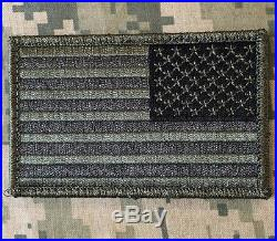 USA American Reverse Flag Tactical Us Army Morale Military Acu Hook Patch