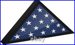USA American US Folded Memorial Flag Triangle Display Case Box Burial Casket