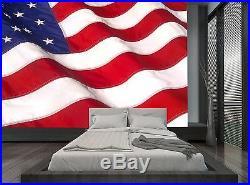 USA American Waving Flag Wall Mural Photo Wallpaper GIANT WALL DECOR