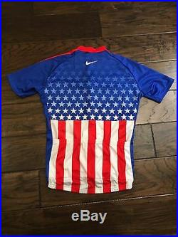 USA Cycling National Team Jersey Nike Giordana Medium M American Flag
