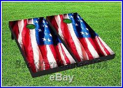 USA PATRIOTIC Custom Cornhole Boards BEANBAG TOSS GAME Bags US American Flag 277