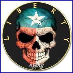 USA TEXAS FLAG SKULL American Silver Eagle 2019 Walking Liberty $1 Dollar Coin