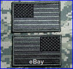USA Us American Flag Reverse Left Right Army Shoulder Acu Dark Velcro 2 Patches