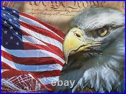 USA Vintage American Flag Bald Eagle 3x5 Feet Flag US Shipper