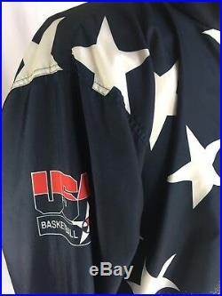 VTG 1996 Olympics USA Basketball Dream Team Champion Windbreaker Jacket Men's XL