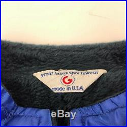 VTG 70s Ford Mustang Cobra Shelby Racing Satin Jacket Size XL Faux Fur Lined USA