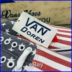 Vans Van Doren American Flag Stars & Stripes Men's Size 10 USA Brand New Rare