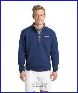 Vineyard Vines Half Zip Red White Blue USA American Flag Mens Pullover Sweater