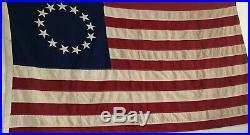 Vintage 13 Star Historical Society 3x5 USA Flag Great for Framing