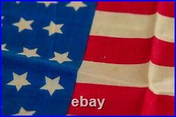 Vintage 1908-1912 46 Star Silk American Flag RARE USA United States 11x17