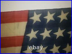 Vintage 40 Forty Star USA American Flag 1889 unofficial