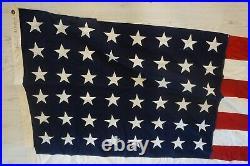 Vintage 48 STAR AMERICAN U. S. FLAG 1912-1959 Rare Original WWII World War II Era