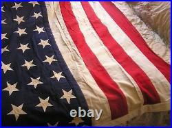Vintage 48 Star American U. S. Flag 9 feet X 54 inches