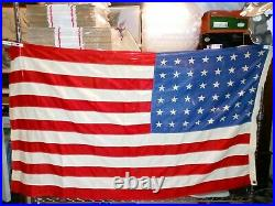 Vintage 48 Star US American Flag 3' x 5' Defiance Bunting 100% Cotton USA withBox
