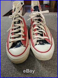 Vintage 80's Converse made in USA American Flag shoes sneakers Mens Size 9