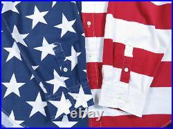 Vintage 90s Tommy Hilfiger USA American Flag Stars Stripes Long Sleeve Shirt XL