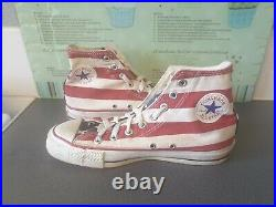 Vintage American Flag Converse All Star Made In USA Size 7