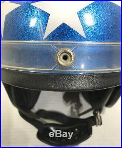Vintage American Flag Stars and Stripes Easy Rider Helmet Captain America Rare