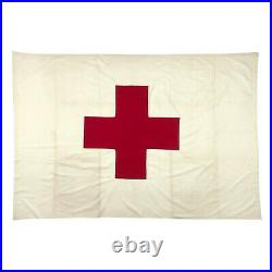 Vintage American Red Cross Cotton First Aid Flag Military Army Antique Medic USA