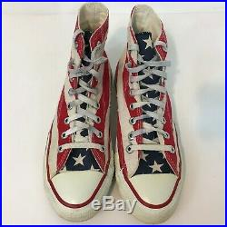 Vintage Converse All Star American Flag Shoes Size 7.5 Men U. S. A. Made 1980