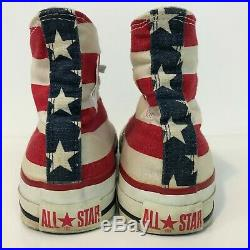 Vintage Converse All Star American Flag Shoes Size 7.5 Men U. S. A. Rare