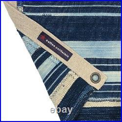 Vintage Indigo USA Flag Cotton Shibori Blue Denim Mudcloth US American Patchwork