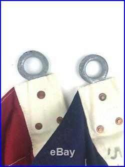 Vintage Large 48 Star American Flag 5 x 9.5 Sewn Cotton Stars & Stripes USA