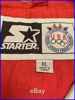 Vintage NWT Starter Team USA American Flag 1992 Olympics Windbreaker Jacket XL