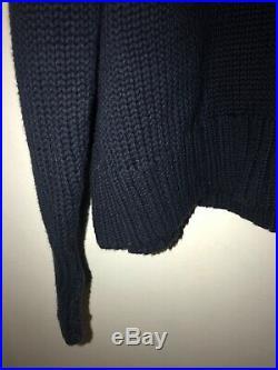 Vintage Polo Ralph Lauren American Flag Knit Sweater Big USA 100% Size XL 90s