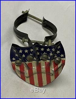 Vintage Radiator American Flag Shield Holder 1920's 1930's Accessory 48 Star