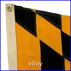 Vintage Sewn Cotton Maryland US State Flag Cloth Banner Old American USA