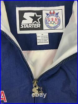 Vintage Starter Olympic Windbreaker Jacket 90s Team USA Eagle American Flag R5
