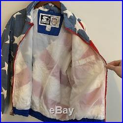 Vintage Starter USA Olympic Team Jacket Windbreaker American Flag RARE Supreme
