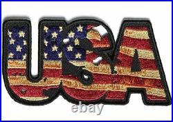 Vintage Style USA American Flag Motorcycle Biker Leather Jacket Vest Patch