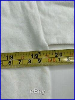 Vintage VTG Morrissey White Tour T-Shirt USA American Flag Large