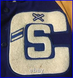 Vtg 50s 60s Baseball Varsity Letterman Jacket 40 USA School Track Sport Football