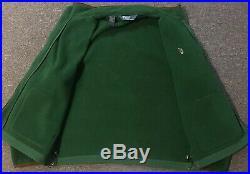 Vtg 90s Polo Ralph Lauren Fleece Jacket XL Sport Leather Trim Sailing Nautical
