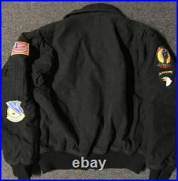 Vtg 90s Rothco Flyers Jacket M US Air Force Blue Angels Airwolf Military Army