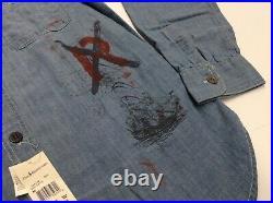 Vtg Polo Ralph Lauren Seamanship Preppy Royal King Chambray Work Sport Shirt Men