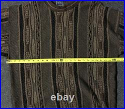 Vtg Versace Jeans Couture Knit Coogi Style Sweater 8 XL XXL USA Cosby 80s 90s