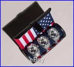 WOLF Navigator American (USA) Flag Triple Watch Roll 470904 + FREE US SHIPPING