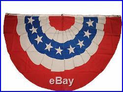 Wholesale Lot 5 Pack 3x5 USA American Stars Stripes U. S. Bunting Fan Flag 3'x5